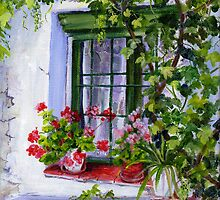 Spanish Farmhouse window by Maureen Whittaker