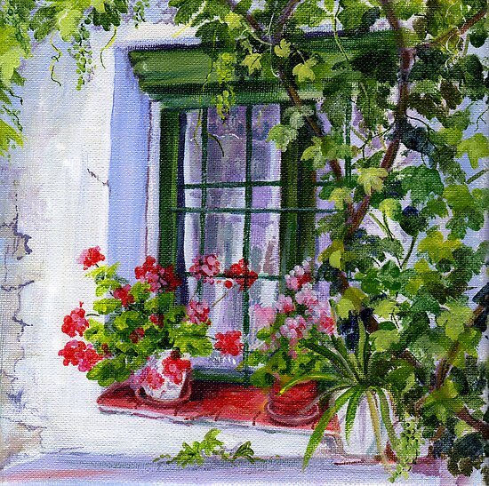 Spanish Farmhouse window by Maureen Whittaker