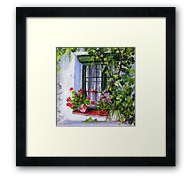 Spanish Farmhouse window Framed Print