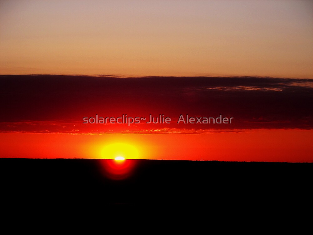 Sunset over the farm by solareclips~Julie  Alexander