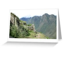 Incan Stronghold Greeting Card