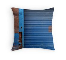 Blue With Brick Throw Pillow