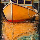 Orange Boat by Dave  Higgins