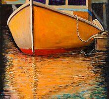 Orange Boat by Dave  Higgins