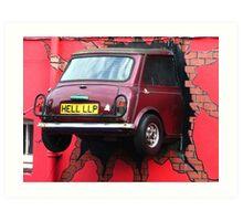 Stunt Driver - The Italian Job !!!!! Art Print