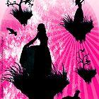 Raven Ladies in Pink by DarkenedMystery