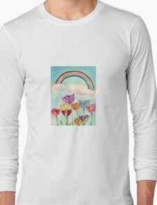 Tulips & Rainbows Long Sleeve T-Shirt