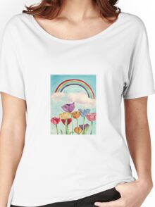 Tulips & Rainbows Women's Relaxed Fit T-Shirt