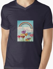 Tulips & Rainbows Mens V-Neck T-Shirt