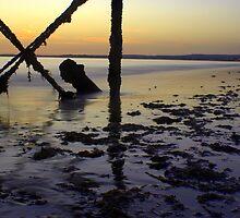 Sunrise under the pier. by Gabriel Skoropada