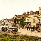 The High Street, Battle, East Sussex, England circa 1890 by Dennis Melling