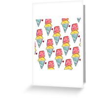 LOVE YOU MORE THAN ICE CREAM Greeting Card