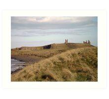 Dunstanburgh Castle from the dunes Art Print
