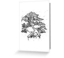 Bonsai Tree Original Artwork Greeting Card