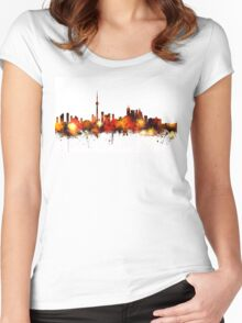 Toronto Canada Skyline Women's Fitted Scoop T-Shirt