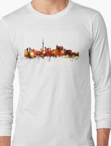 Toronto Canada Skyline Long Sleeve T-Shirt