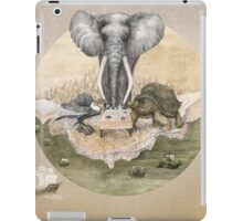 Elephant turtle condor tea time iPad Case/Skin
