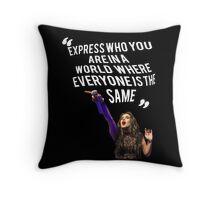 Lauren Jauregui Inspirational Quote Throw Pillow