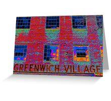 GREENWICH VILLAGE, NYC Greeting Card