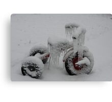 Tricycle's Icicles Canvas Print