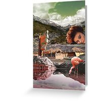Motel Flamingo  Greeting Card