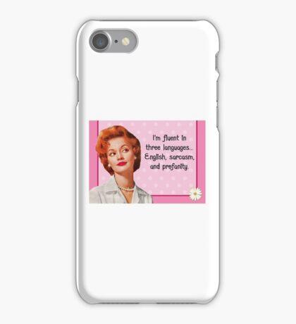 English Sarcasm Profanity iPhone Case/Skin