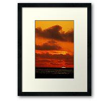 Sunset on a SoCal Beach Framed Print