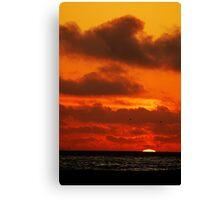 Sunset on a SoCal Beach Canvas Print