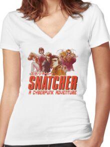 Snatcher Women's Fitted V-Neck T-Shirt