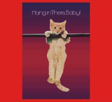 Hang In There Baby Kitten One Piece - Short Sleeve