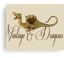Vintage & Dragons Canvas Print
