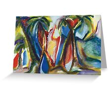 Tropical Palm Rhumba Greeting Card