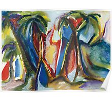 Tropical Palm Rhumba Poster