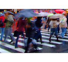 Wet Umbrellas Photographic Print