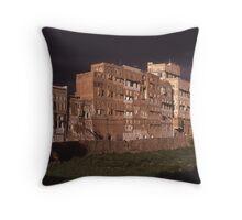 Traditional Buildings, Sana'a, Yemen Throw Pillow