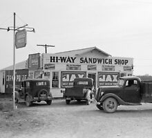 Hi-Way Sandwich Shop, 1939 by historyphoto