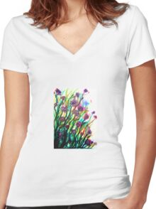 Amongst the Wildflowers Women's Fitted V-Neck T-Shirt