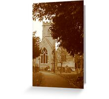 Sepia Church in England - Gloucestershire Greeting Card