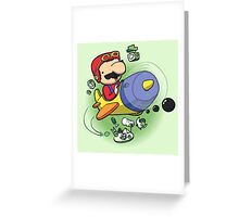 Saving the Princess from Exploding Turtles Greeting Card