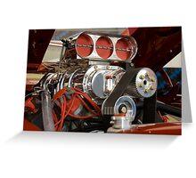 Muscle Car Motor Greeting Card