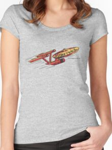 Vintage Enterprise Artwork (c. 1975) Women's Fitted Scoop T-Shirt