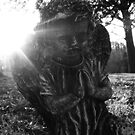 Cemetary Angel Black&White by TLWhite