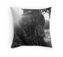 Cemetary Angel Black&White Throw Pillow