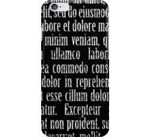 Lorem ipsum reversed iPhone Case/Skin