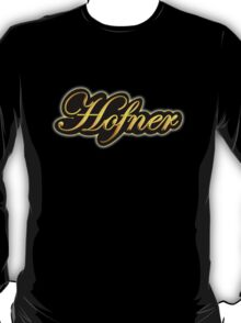 Vintage Gold Hofner Guitars  T-Shirt