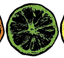 Grunge Citrus Fruits by ESilenceDesigns
