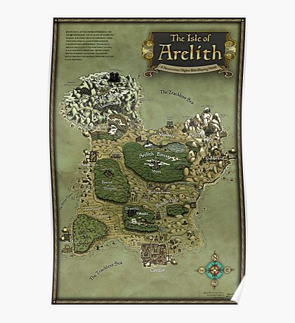 Arelith Map Poster
