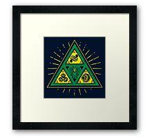 The Tribal Triforce Framed Print