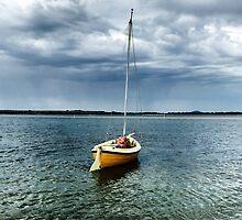 Boat at Shallow Inlet by bverdasco