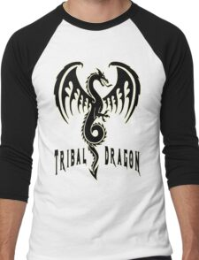 Tribal dragon Men's Baseball ¾ T-Shirt